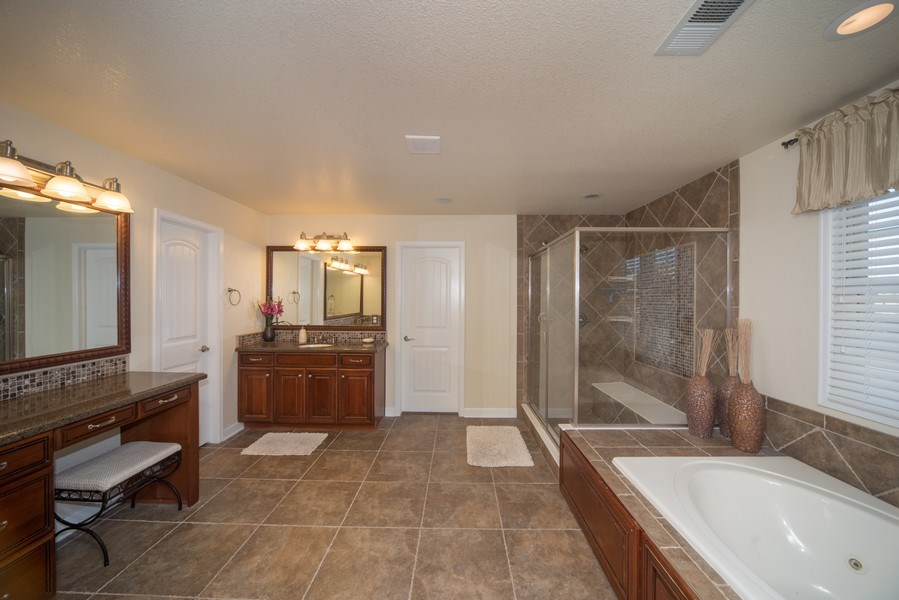 Real Estate Photography - 14345 Kalamath, Westminster, CO, 80023 - Luxurious Master Bathroom