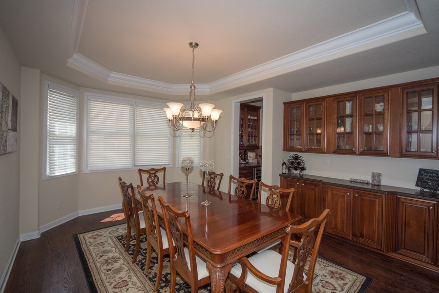 Real Estate Photography - 14345 Kalamath, Westminster, CO, 80023 - Formal Dining Room with Built Ins