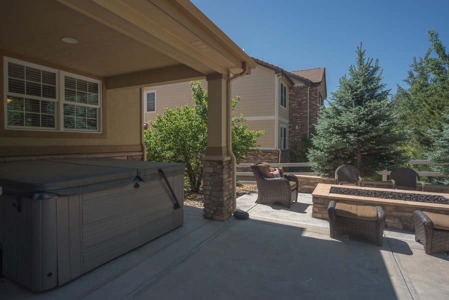 Real Estate Photography - 14345 Kalamath, Westminster, CO, 80023 - Covered Hot Tub