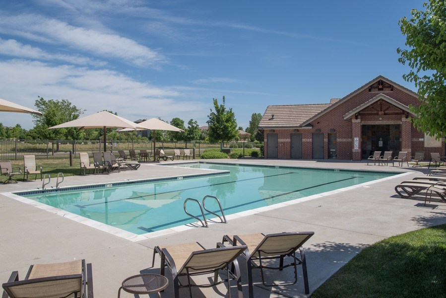 Real Estate Photography - 14345 Kalamath, Westminster, CO, 80023 - Community Pool and Clubhouse