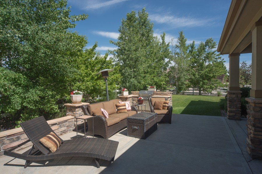 Real Estate Photography - 14345 Kalamath, Westminster, CO, 80023 - Beautiful Patio and Yard
