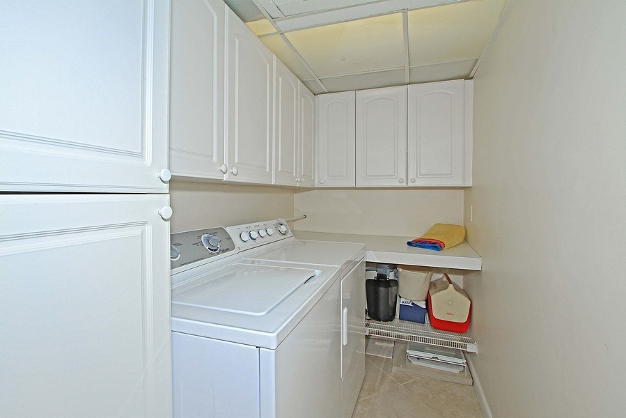 Real Estate Photography - 26340 Hickory Blvd, unit 501, Bonita Springs, FL, 34134 - Laundry Room
