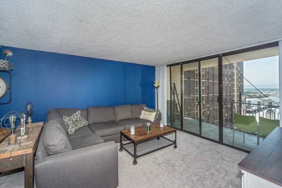 Real Estate Photography - 1020 15th Street Unit U-15A, Denver, CO, 80202 - Living Room