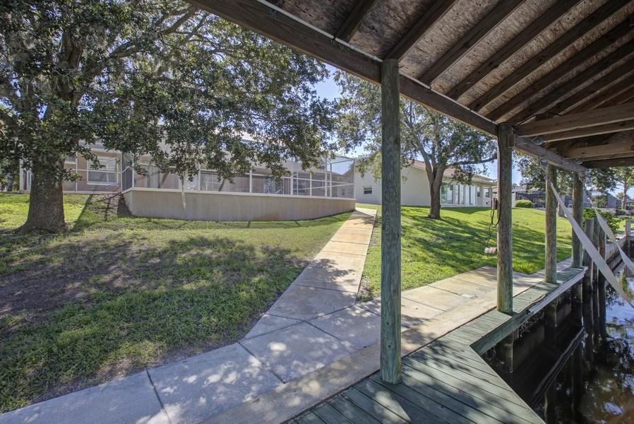 Real Estate Photography - 15 Coral Reef Court N, Palm Coast, FL, 32137 - Back Yard