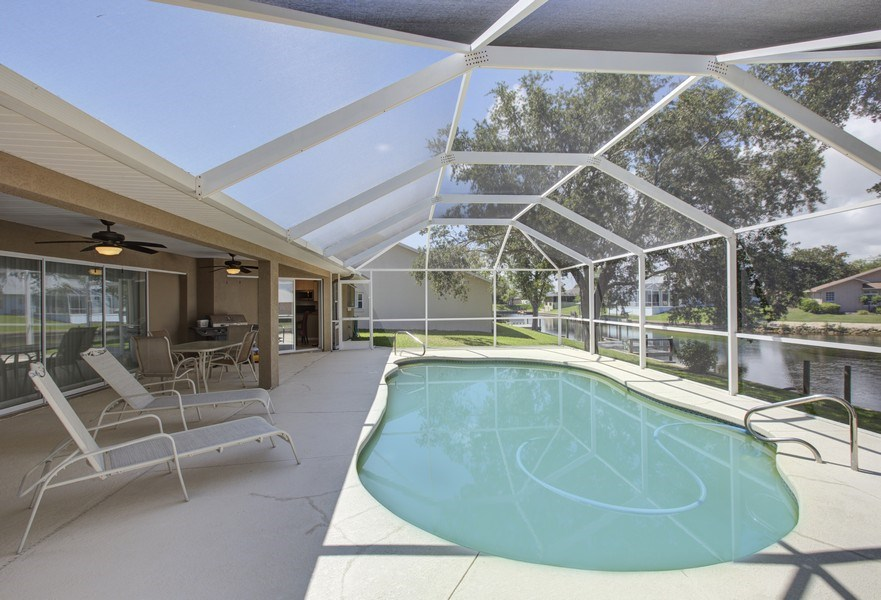 Real Estate Photography - 15 Coral Reef Court N, Palm Coast, FL, 32137 - Pool