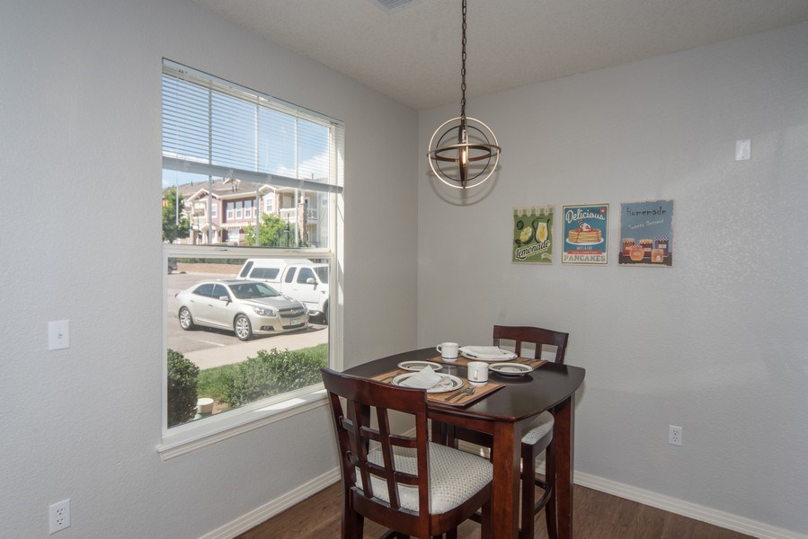 Real Estate Photography - 9527 Pearl Cir, Unit 102, Parker, CO, 80134 - Dining Room