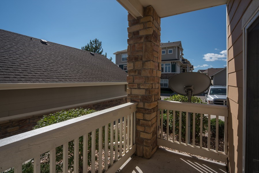 Real Estate Photography - 9527 Pearl Cir, Unit 102, Parker, CO, 80134 - Patio