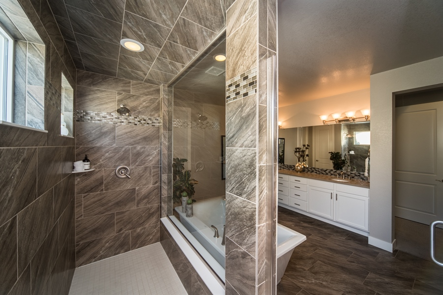 Real Estate Photography - 19612 W 95th Pl, Arvada, CO, 80007 - Spa Inspired Master Bathroom