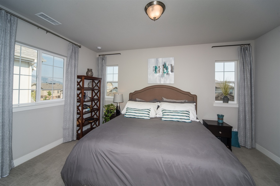 Real Estate Photography - 19612 W 95th Pl, Arvada, CO, 80007 - Upstairs Bedroom Four with Private Bath