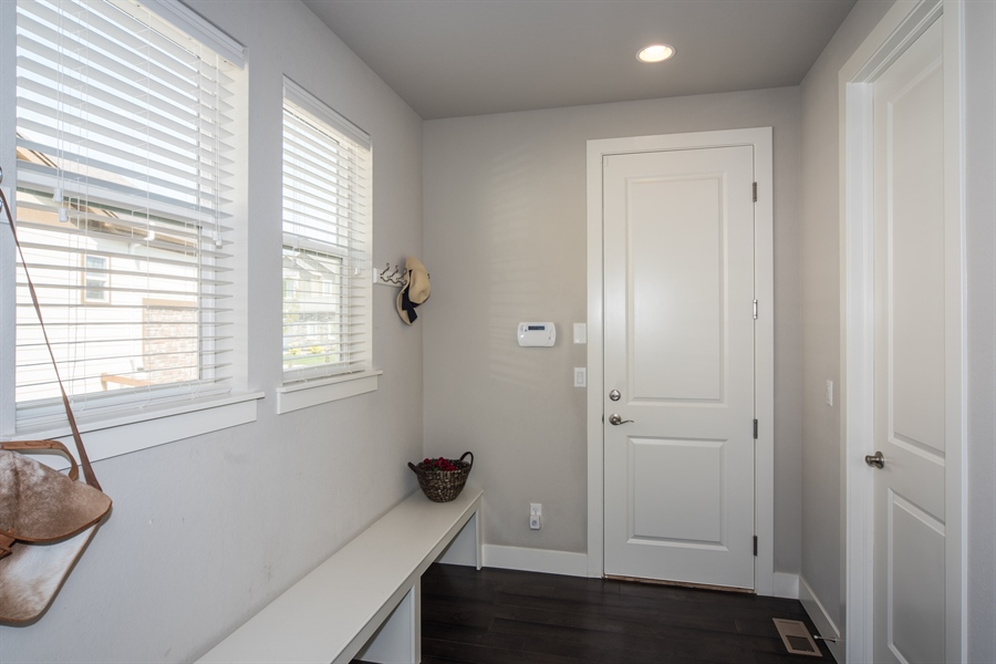 Real Estate Photography - 19612 W 95th Pl, Arvada, CO, 80007 - Dream Mud Room with Tons of Storage