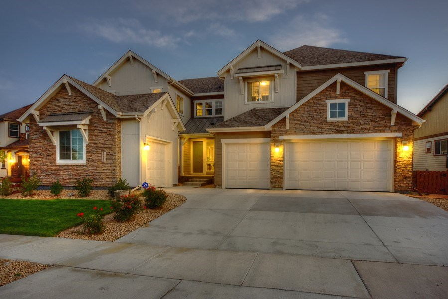 Real Estate Photography - 19612 W 95th Pl, Arvada, CO, 80007 - Four Car Garage and Lots of Curb Appeal