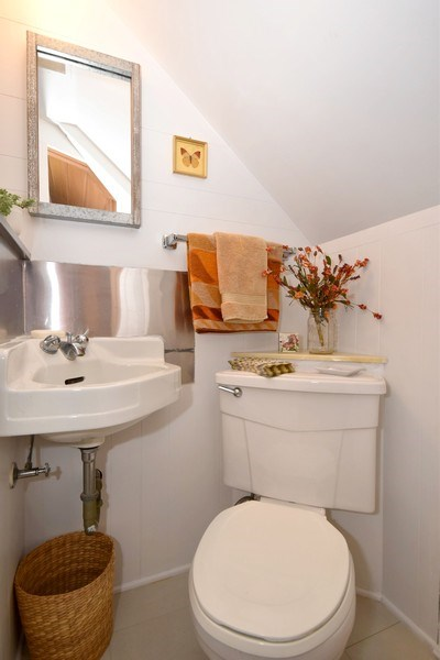 Real Estate Photography - 4237 N Newland, Harwood Heights, IL, 60706 - Bathroom