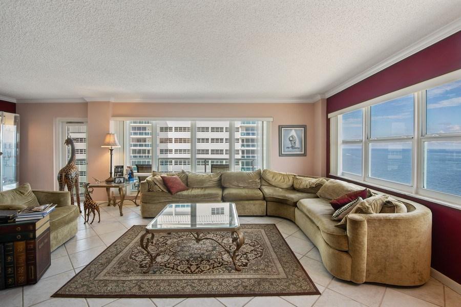 Real Estate Photography - 3410 Galt Ocean Dr, 1101, Ft Lauderdale, FL, 33308 - Living Room