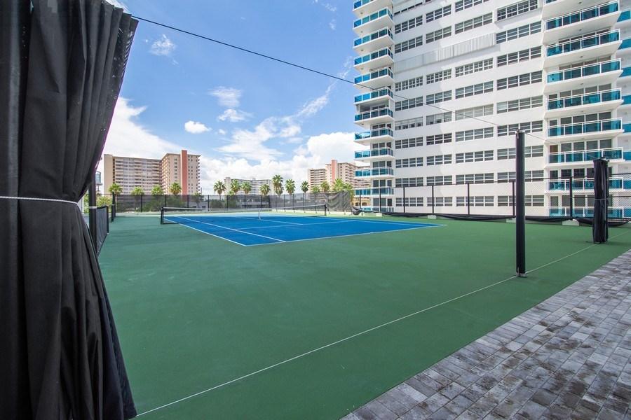 Real Estate Photography - 3410 Galt Ocean Dr, 1101, Ft Lauderdale, FL, 33308 - Tennis Court