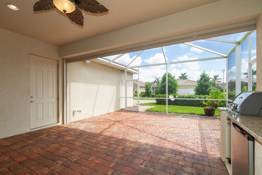 Real Estate Photography - 8180 Chianti Lane, Naples, FL, 34114 - Terrace 2
