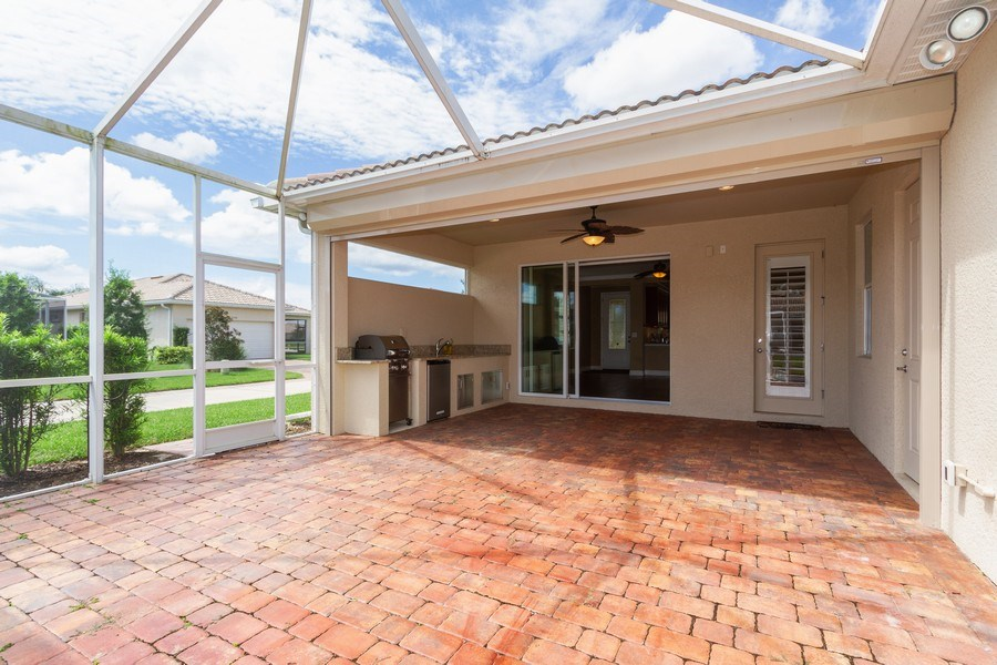 Real Estate Photography - 8180 Chianti Lane, Naples, FL, 34114 - Terrace 3