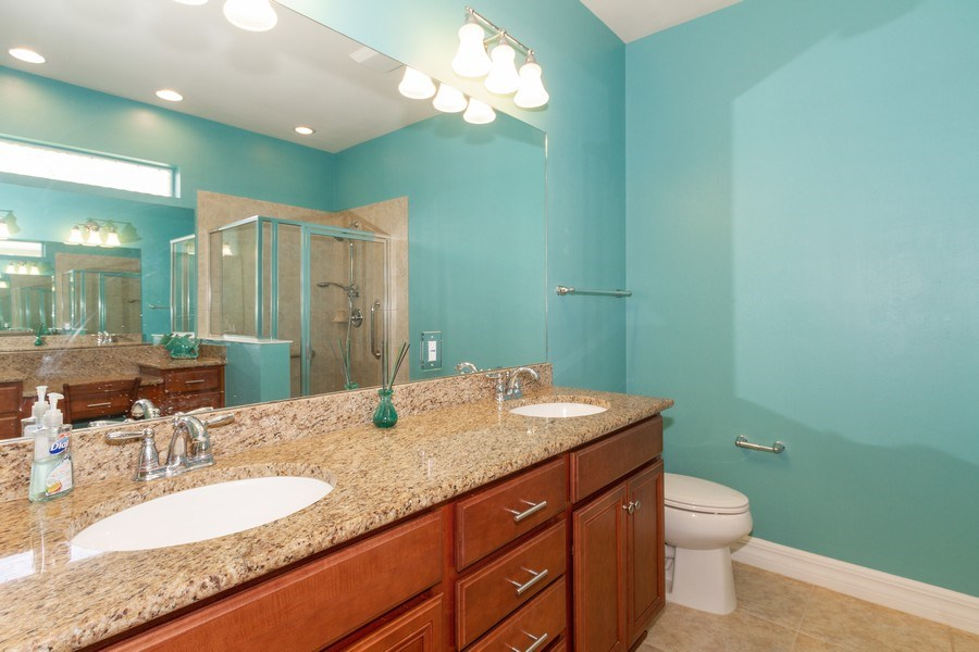 Real Estate Photography - 8180 Chianti Lane, Naples, FL, 34114 - Master Bathroom