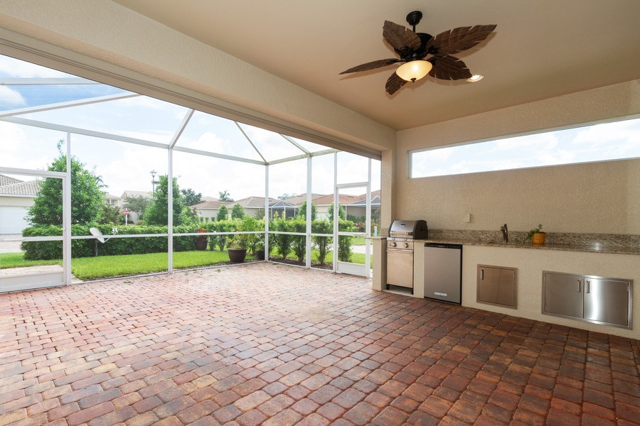 Real Estate Photography - 8180 Chianti Lane, Naples, FL, 34114 - Barbeque / Picnic Area
