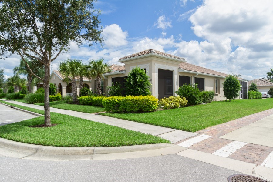 Real Estate Photography - 8180 Chianti Lane, Naples, FL, 34114 - Side View