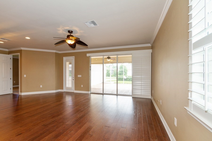 Real Estate Photography - 8180 Chianti Lane, Naples, FL, 34114 - Living Room / Dining Room
