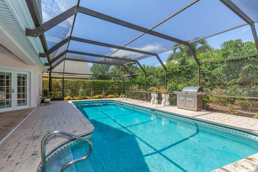 Real Estate Photography - 713 Pinecreek, Naples, FL, 34108 - Pool