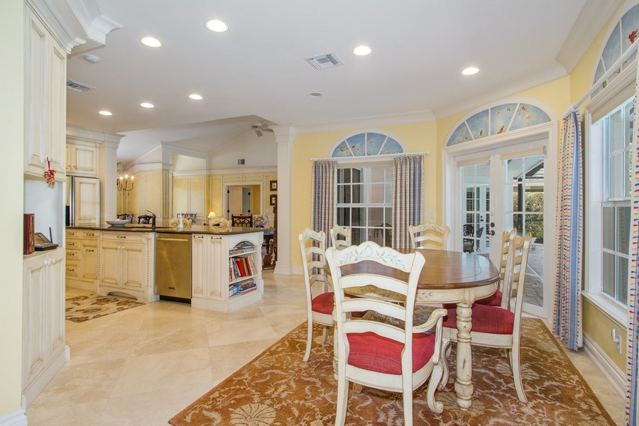 Real Estate Photography - 713 Pinecreek, Naples, FL, 34108 - Breakfast Area