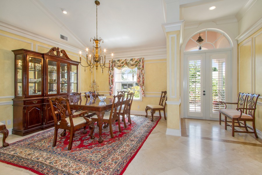 Real Estate Photography - 713 Pinecreek, Naples, FL, 34108 - Dining Room