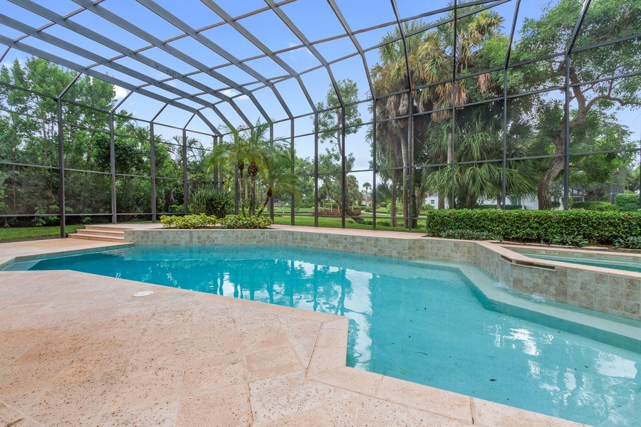 Real Estate Photography - 691 Annemore Ln, Naples, FL, 34108 - Outdoor Pool