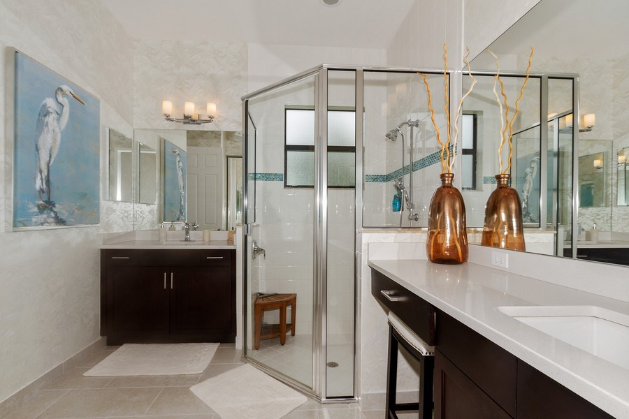 Real Estate Photography - 12008 Five Waters Cir, Fort Myers, FL, 33913 - Master Bathroom