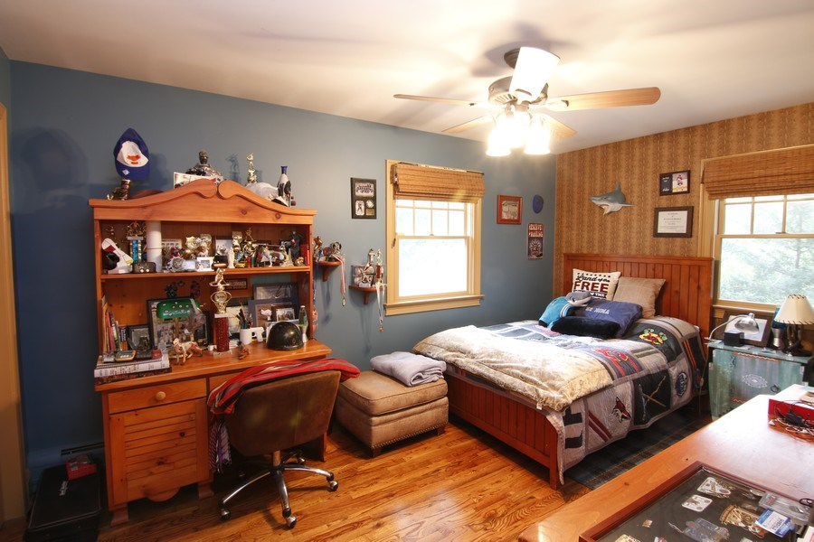 Real Estate Photography - 2 Highland Ave, Sea Cliff, NY, 11579 - bedroom blue