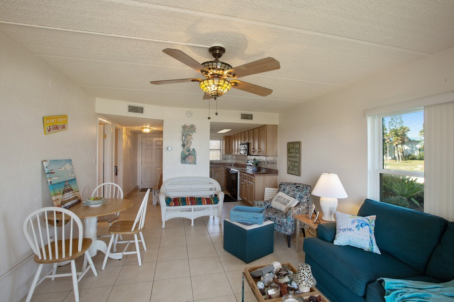 Real Estate Photography - 2730 Ocean Shore Blvd, Unit 107, Ormond Beach, FL, 32176 - Living Room