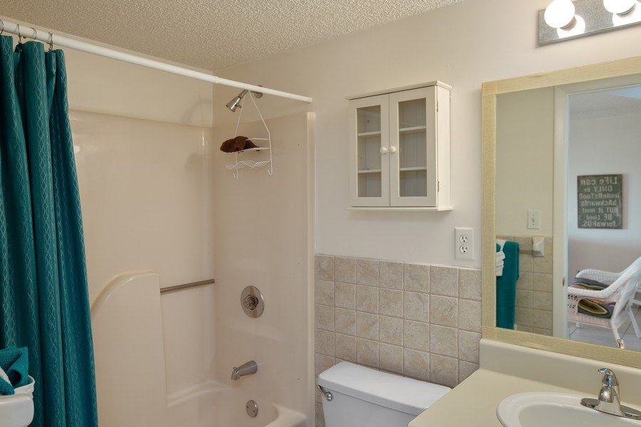 Real Estate Photography - 2730 Ocean Shore Blvd, Unit 107, Ormond Beach, FL, 32176 - Bathroom