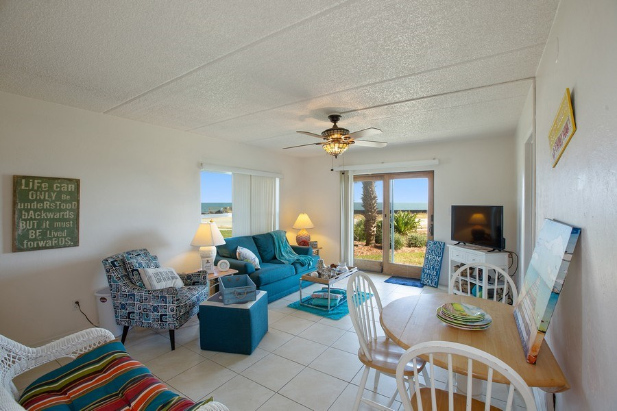 Real Estate Photography - 2730 Ocean Shore Blvd, Unit 107, Ormond Beach, FL, 32176 - Living Room / Dining Room