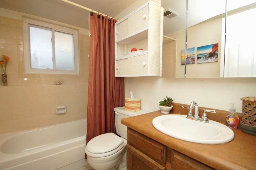 Real Estate Photography - 4852 S. Pagosa Way, Aurora, CO, 80015 - Bathroom