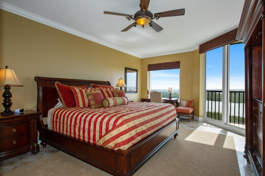 Real Estate Photography - 1050 Borghese Ln, 1506, Naples, FL, 34114 - Master Bedroom