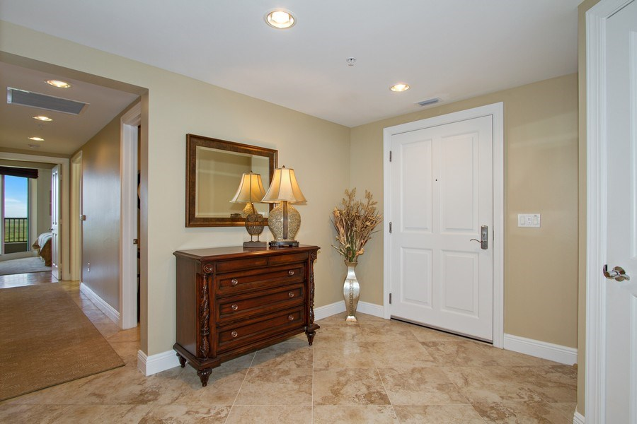 Real Estate Photography - 1050 Borghese Ln, 1506, Naples, FL, 34114 - Foyer