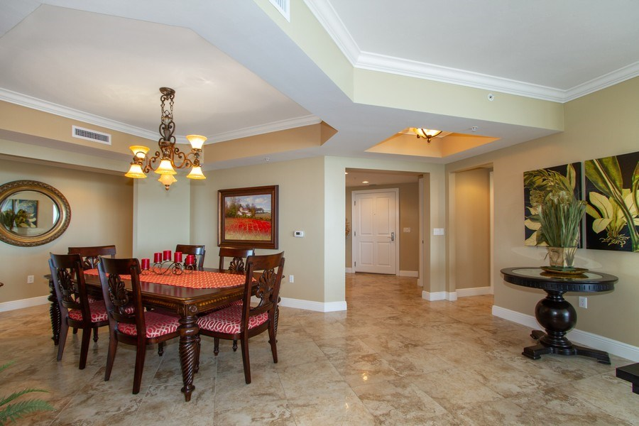 Real Estate Photography - 1050 Borghese Ln, 1506, Naples, FL, 34114 - Dining Room