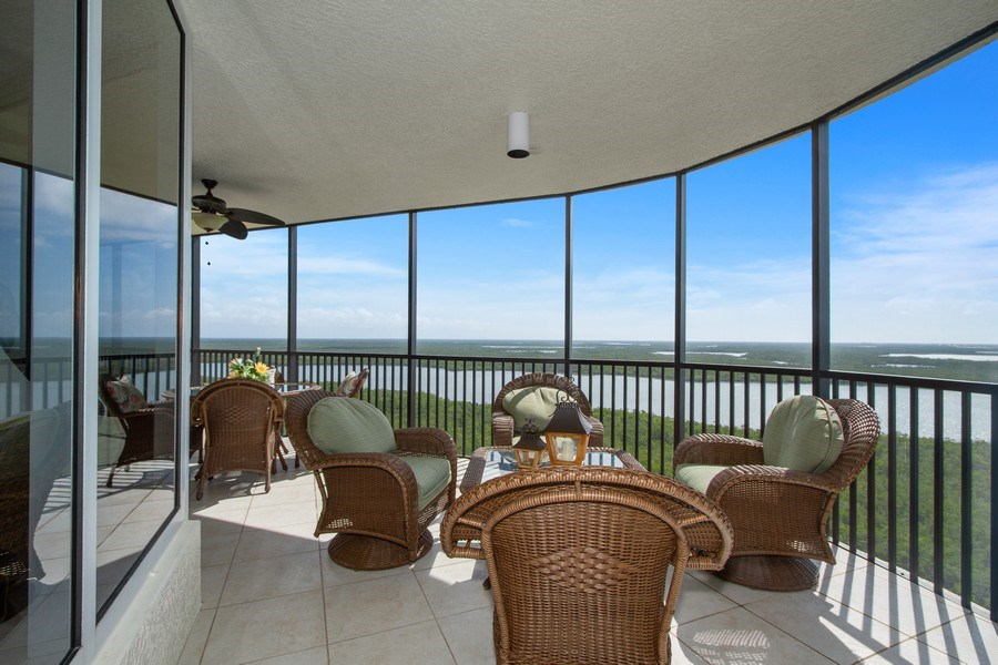 Real Estate Photography - 1050 Borghese Ln, 1506, Naples, FL, 34114 - Patio