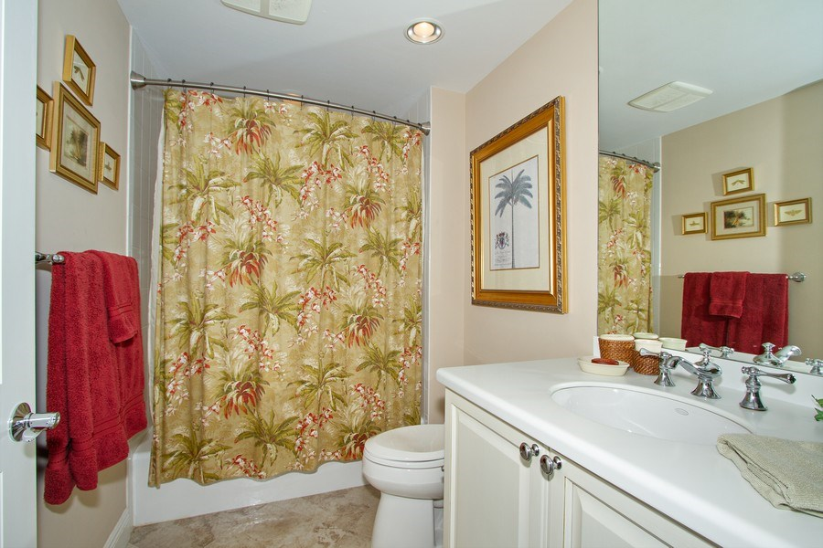 Real Estate Photography - 1050 Borghese Ln, 1506, Naples, FL, 34114 - 2nd Bathroom