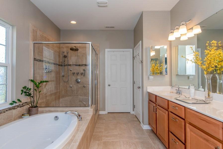 Real Estate Photography - 333 Woodward Ridge Dr, Mount Holly, NC, 28120 - Master Bathroom