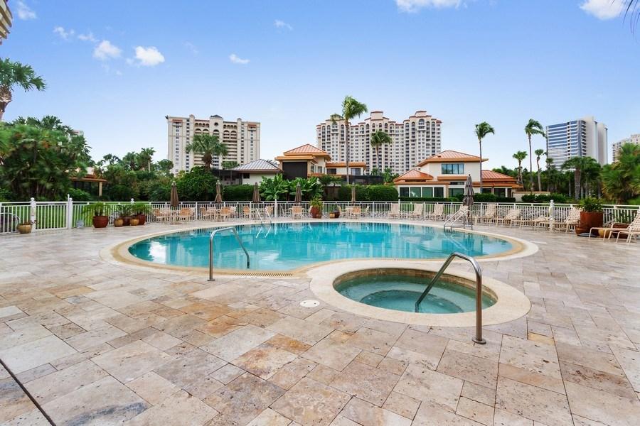 Real Estate Photography - 6710 Pelican Bay Blvd, Unit 435, Naples, FL, 34108 - Pool