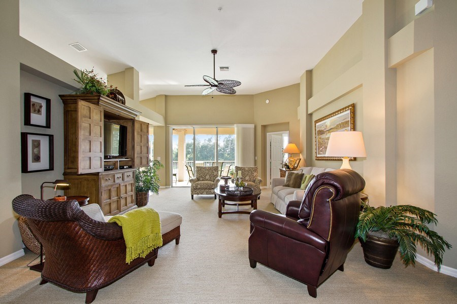 Real Estate Photography - 1615 Winding Oaks Way #201, Naples, FL, 34109 - Living Room