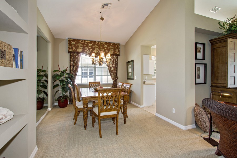 Real Estate Photography - 1615 Winding Oaks Way #201, Naples, FL, 34109 - Dining Room