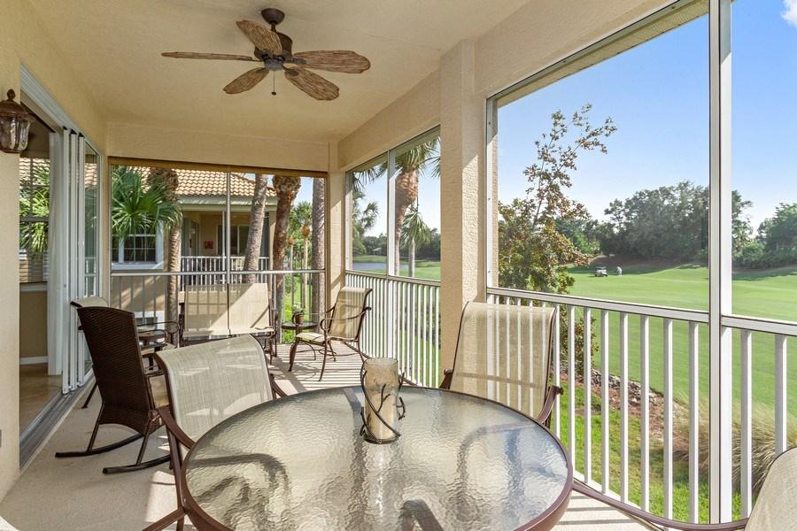 Real Estate Photography - 1615 Winding Oaks Way #201, Naples, FL, 34109 - Patio