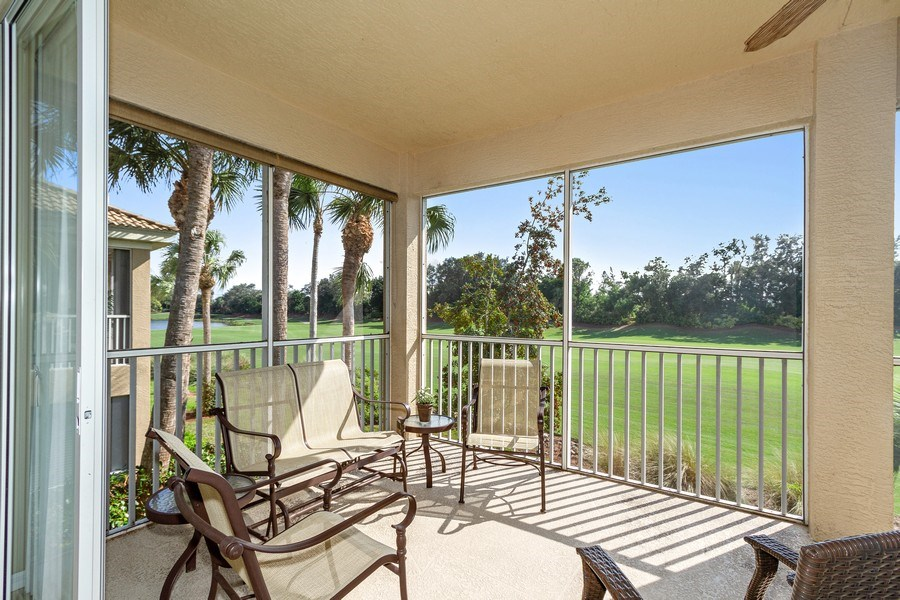 Real Estate Photography - 1615 Winding Oaks Way #201, Naples, FL, 34109 - Patio