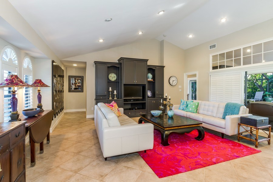 Real Estate Photography - 815 Bentwood Dr, Naples, FL, 34108 - Living Room