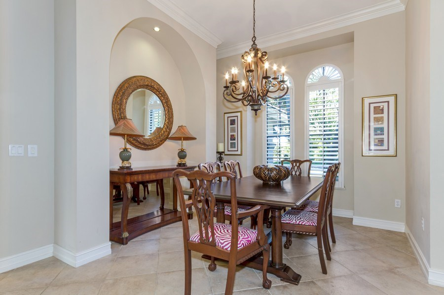 Real Estate Photography - 815 Bentwood Dr, Naples, FL, 34108 - Dining Room