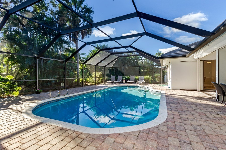 Real Estate Photography - 815 Bentwood Dr, Naples, FL, 34108 - Pool