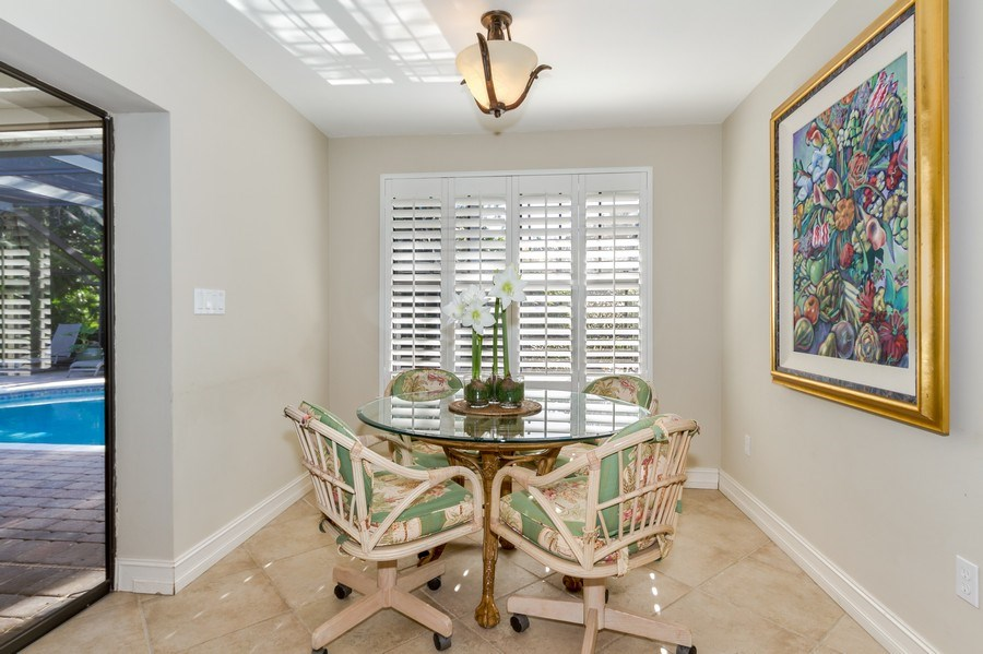 Real Estate Photography - 815 Bentwood Dr, Naples, FL, 34108 - Breakfast Nook