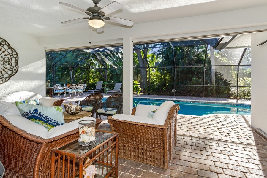 Real Estate Photography - 815 Bentwood Dr, Naples, FL, 34108 - Patio